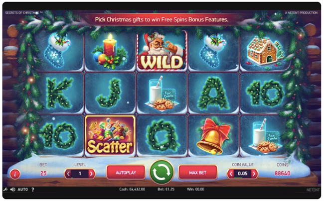 Online game Secrets of Christmas by Netent