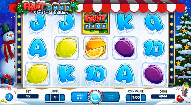 A slot game Fruit Shop Christmas