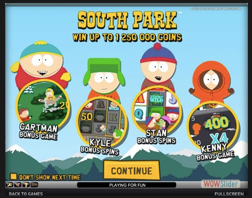 Netent game - South Park