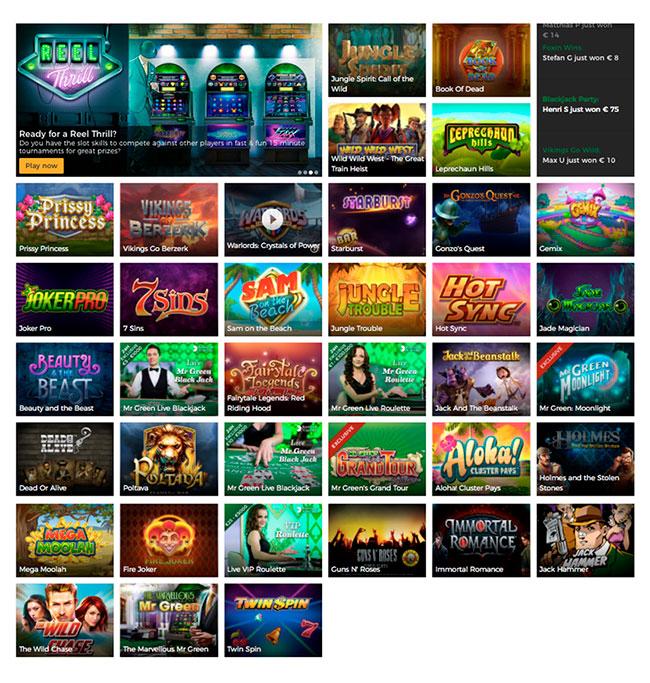 The Mr Green Casino