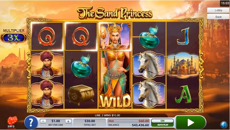 The sand princess by 2by2 gaming