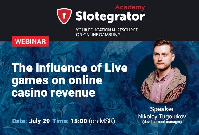 "Slotegrator и Lucky Streak приглашают на вебинар ""Влияние Live игр на доходность онлайн казино"""