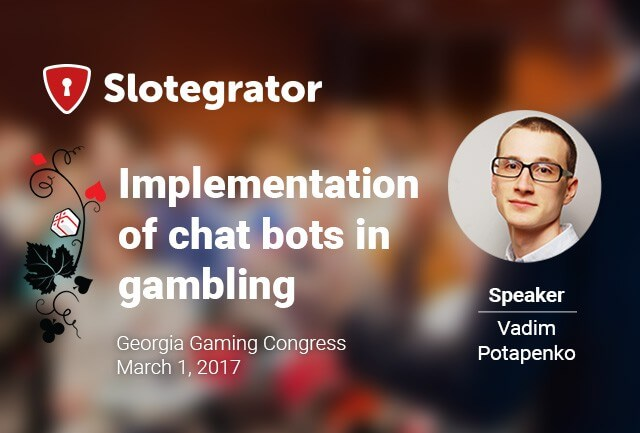 An announcement of Slotegrator´s presentation for the congress in Georgia