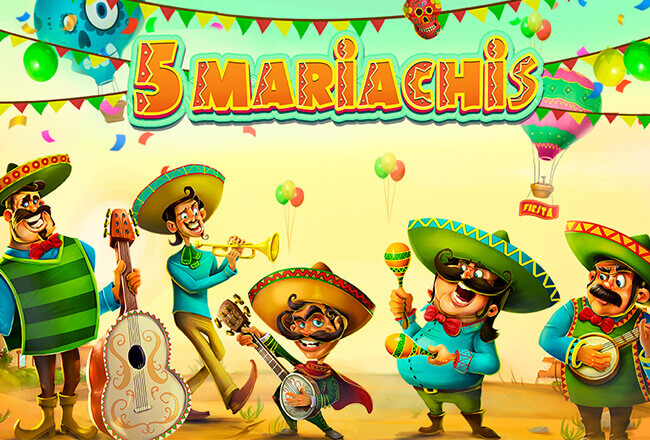 Mexican fiesta in a new 5 Mariachis slot from Habanero
