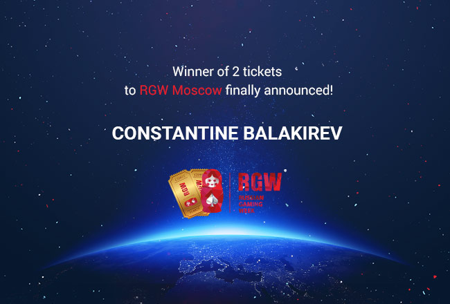 Winner of 2 tickets to RGW Moscow finally announced