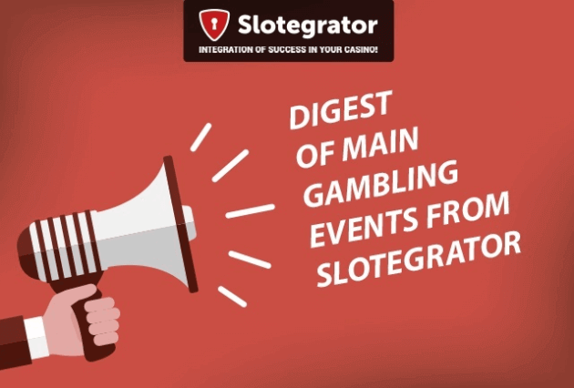 Digest of main gambling events from Slotegrator