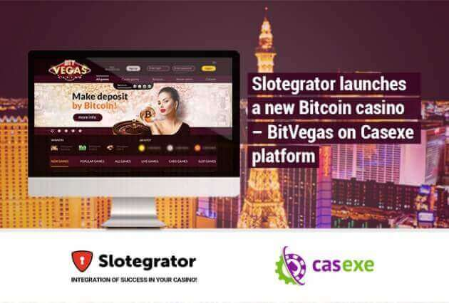 Slotegrator launches new bitcoin casino BitVegas on Casexe platform