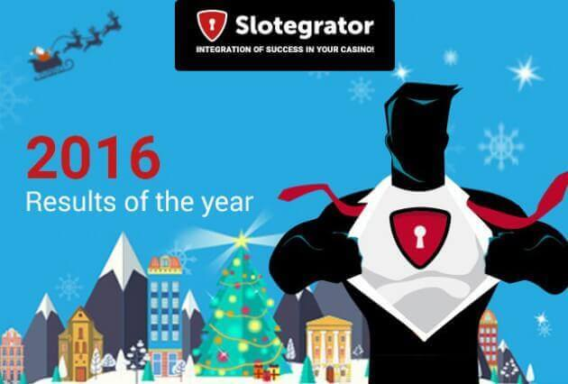 Results of the year 2016 by Slotegrator
