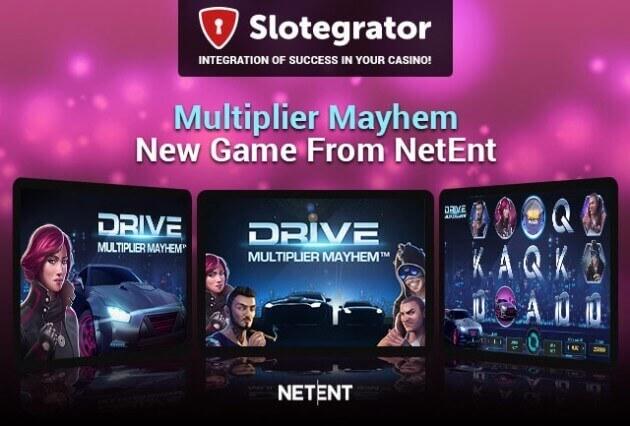 NetEnt предлагает почувствовать настоящую скорость в новом слоте Drive: Multiplier Mayhem