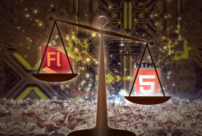 Технологии Flash и HTML5 в азартных онлайн играх