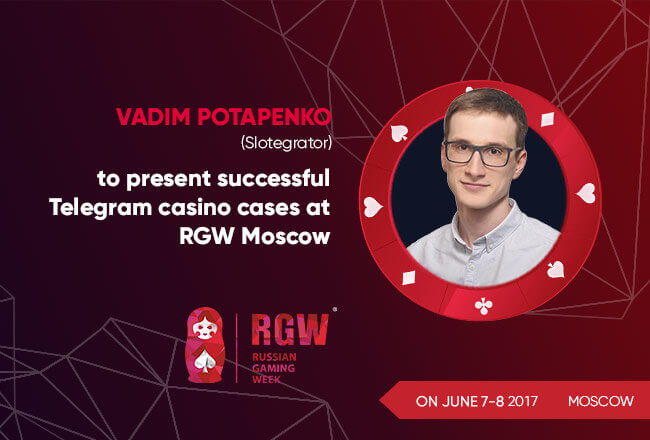 Vadim Potapenko to present successful Telegram casino cases at RGW Moscow
