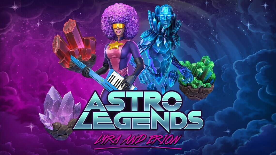 Futuristic Video Slot Astro Legends: Lyra and Erion by Foxium