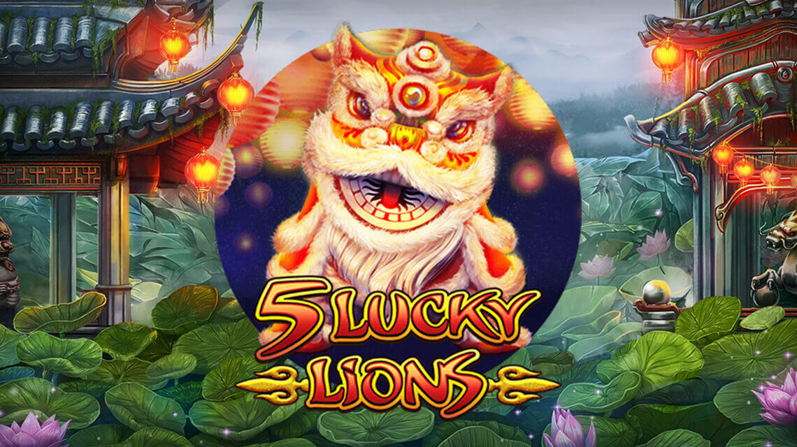 Habanero's 5 Lucky Lions are awaiting with a wealth of riches in a new slot