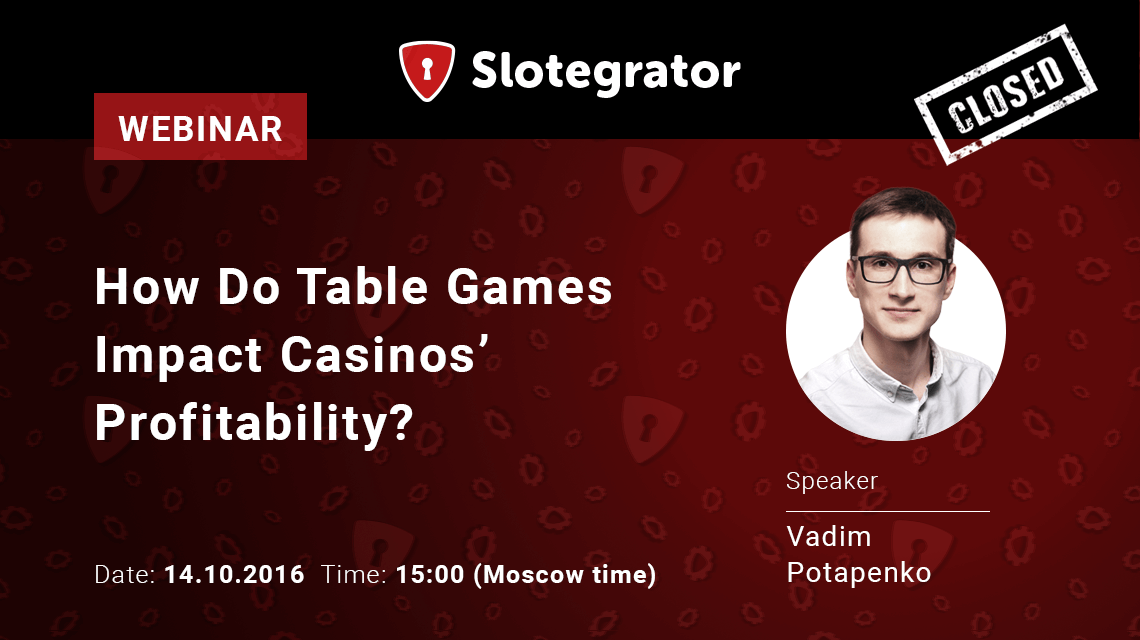 Webinar on table game impact on online casino profit from Slotegrator and Table 10