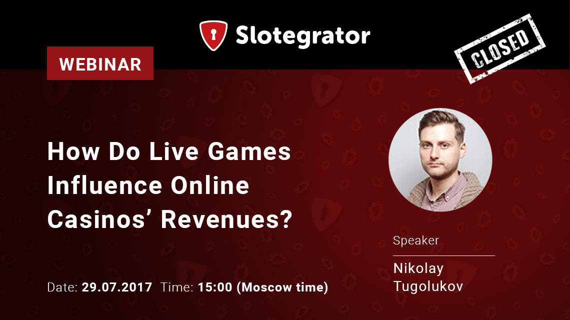 "Slotegrator and Lucky Streak offer to join the webinar ""The influence of Live games on online casino revenue"