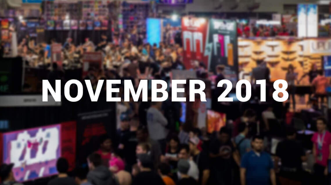 10 Major iGaming Events of November 2018