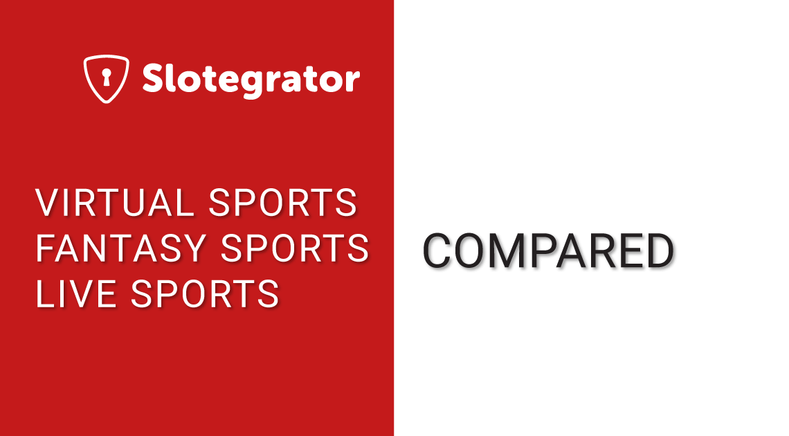 Comparison of virtualsports, fantasy and live sports - infographics