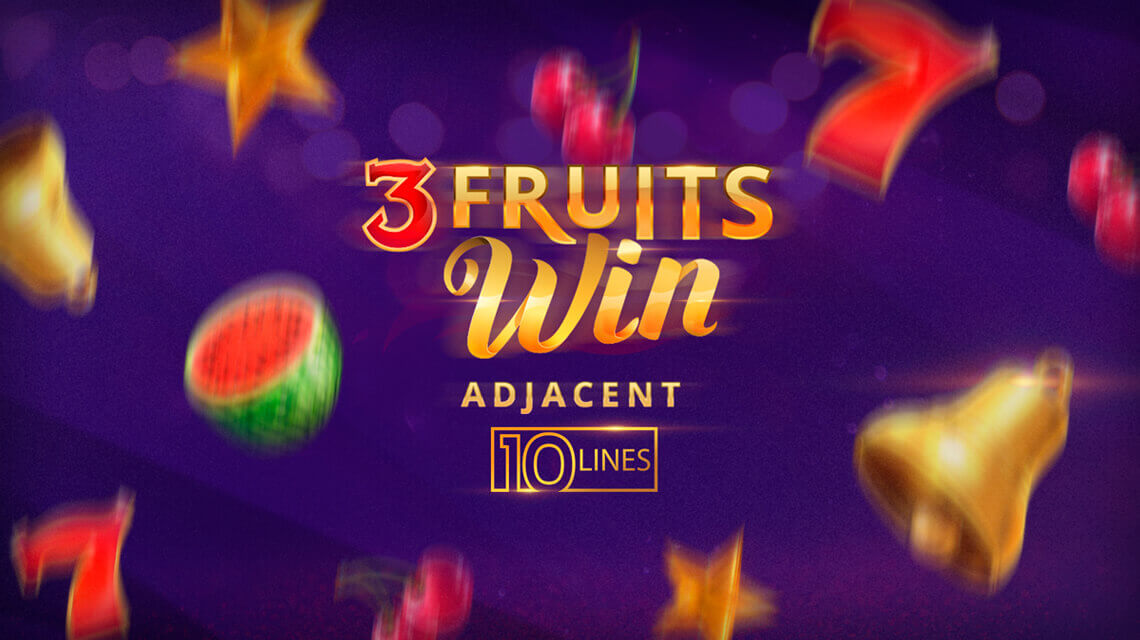 3 Fruits Win: 10 lines - simple but attractive video slot from Playson