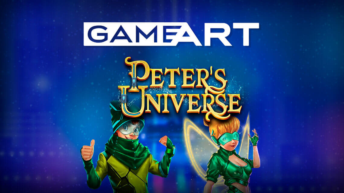 GameArt presented its brand-new casino game Peter's Universe