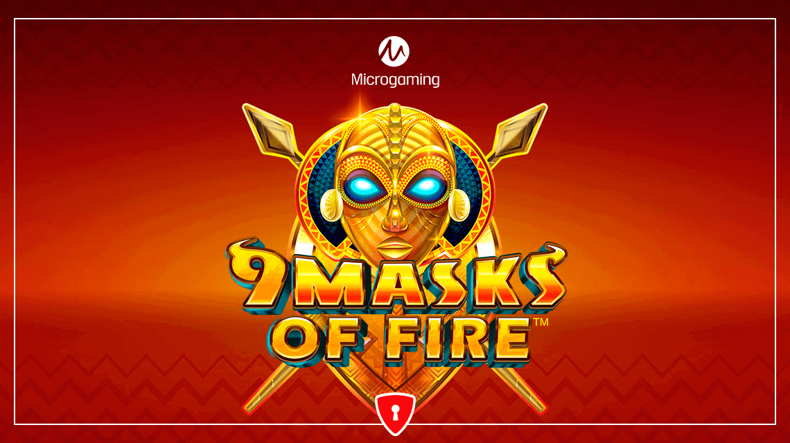 Players Will Feel the Burning Rhythms of Africa in Microgaming's New Slot, 9 Masks of Fire