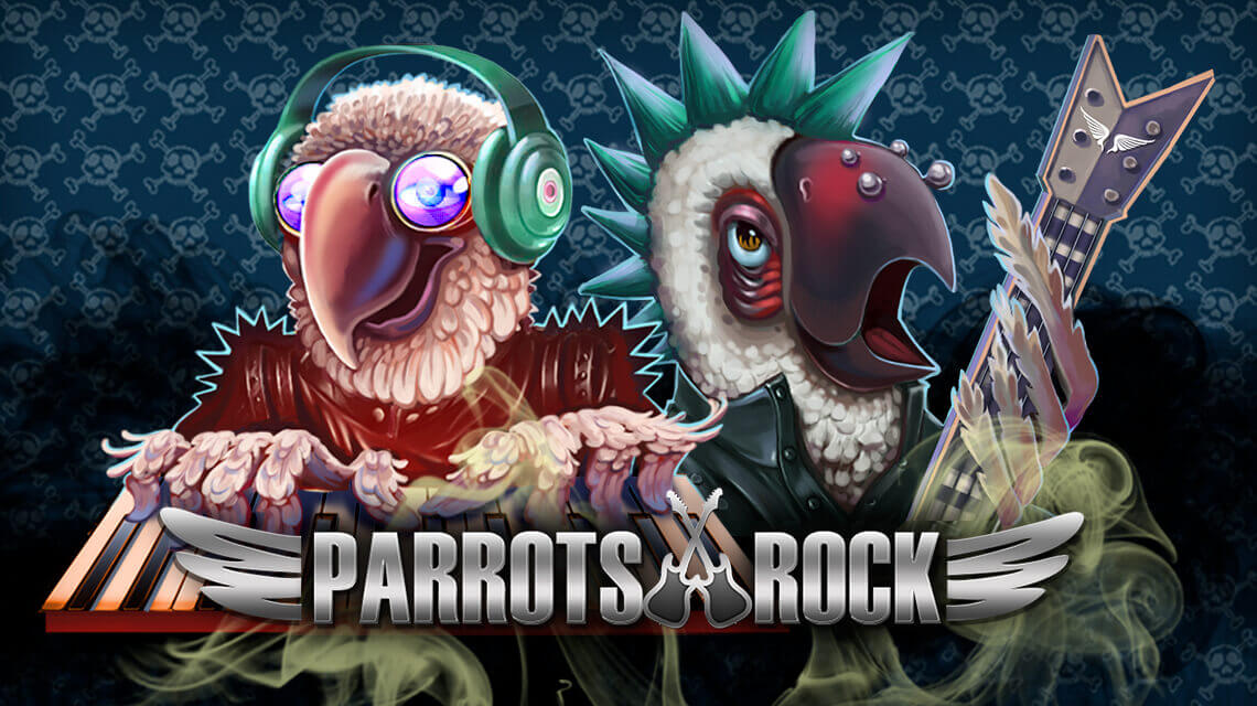 Party Hard on Parrots Rock Slot Reels by Spinomenal