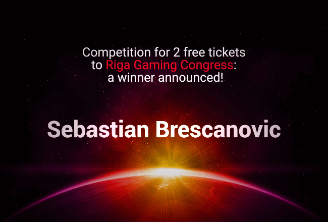 Competition for 2 free tickets to Riga Gaming Congress: A winner announced!