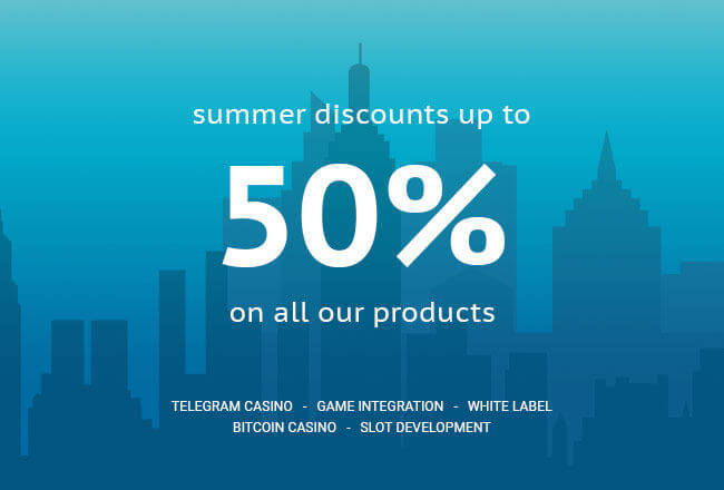 Prices are melting away: summer discounts for all Slotegrator's products