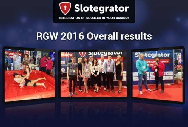 Results of Slotegrator's participation in the international exhibition RGW 2016