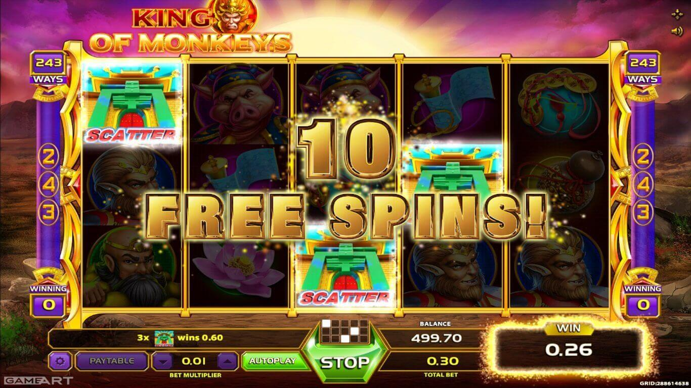 The legend becomes real: new King of Monkeys slot from GameArt