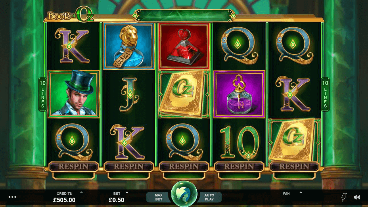 Book of Oz slot from Microgaming - Slotegrator