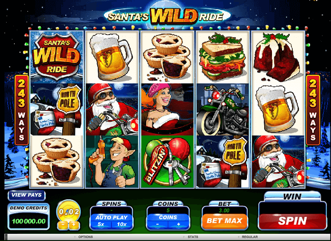 Santa's Wild Ride by Microgaming