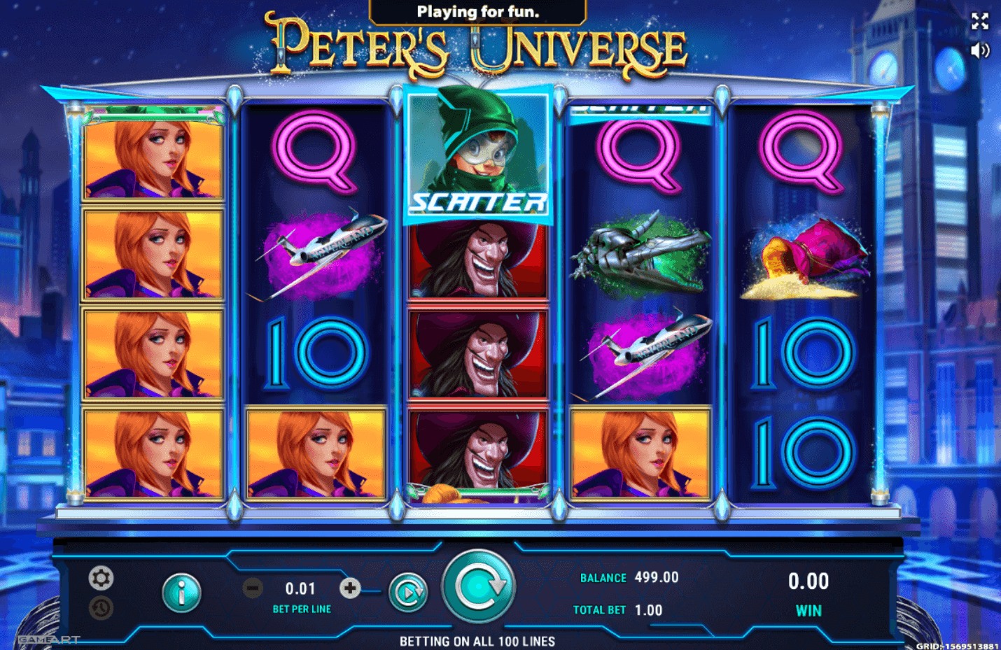 Peter's Universe by Gameart - Slotegrator