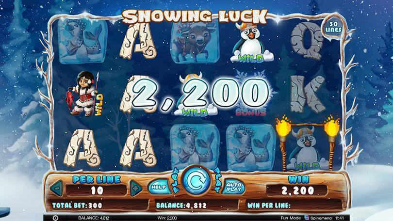 Find out how lucky you are with Spinomenal's new slot Snowing Luck  0