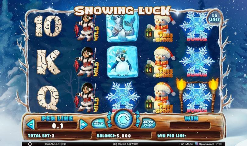 Find out how lucky you are with Spinomenal's new slot Snowing Luck  1