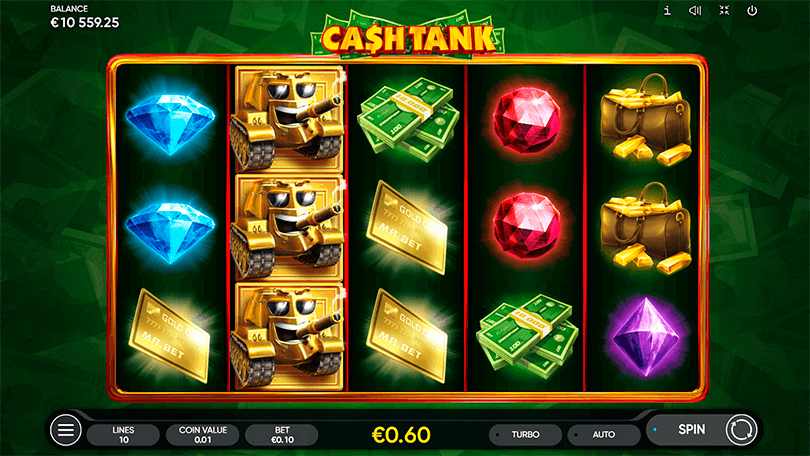 The New Slot from Endorphina, Cash Tank, Shoots Straight to the Heart  1