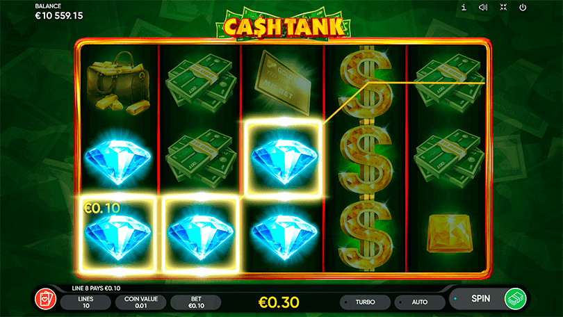 The New Slot from Endorphina, Cash Tank, Shoots Straight to the Heart  3